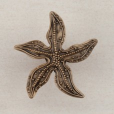 Beaded Starfish Cabinet Knob - Museum Gold (DPNGP) by Acorn