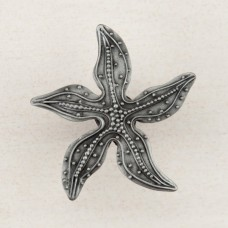 Beaded Starfish Cabinet Knob - Antique Pewter (DPNPP) by Acorn