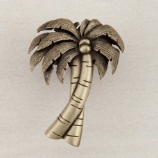 Palm Tree Cabinet Knob - Antique Brass (DQ1AP) by Acorn