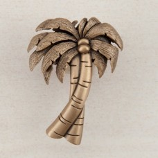 Palm Tree Cabinet Knob - Museum Gold (DQ1GP) by Acorn