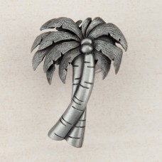 Palm Tree Cabinet Knob - Antique Pewter (DQ1PP) by Acorn