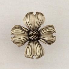 Dogwood Cabinet Knob - Antique Brass (DQ6AP) by Acorn
