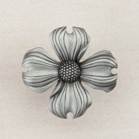 Dogwood Cabinet Knob - Antique Pewter (DQ6PP) by Acorn