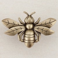 Bee Cabinet Knob - Antique Brass (DQ7AP) by Acorn