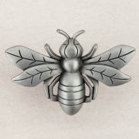 Bee Cabinet Knob - Antique Pewter (DQ7PP) by Acorn