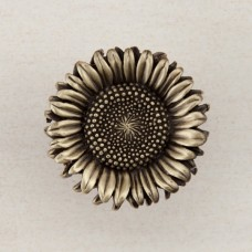 Sunflower Cabinet Knob - Antique Brass (DQ8AP) by Acorn