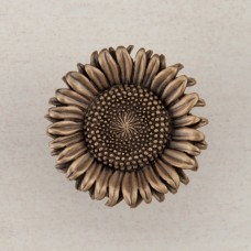 Sunflower Cabinet Knob - Museum Gold (DQ8GP) by Acorn