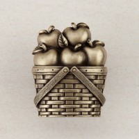 Apple Basket Cabinet Knob - Antique Brass (DQAAP) by Acorn