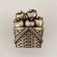 Apple Basket Cabinet Knob - Antique Brass (DQAAP) by Acorn