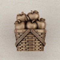 Apple Basket Cabinet Knob - Museum Gold (DQAGP) by Acorn