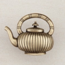 Teapot Cabinet Knob - Antique Brass (DQCAP) by Acorn