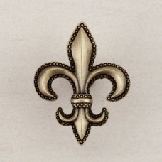 Fleur De Lis Cabinet Knob - Antique Brass (DQDAP) by Acorn