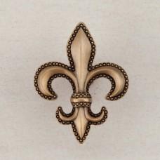 Fleur De Lis Cabinet Knob - Museum Gold (DQDGP) by Acorn