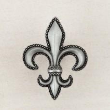 Fleur De Lis Cabinet Knob - Antique Pewter (DQDPP) by Acorn