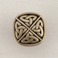 Celtic Square Cabinet Knob - Antique Brass (DQGAP) by Acorn