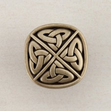 Celtic Square Cabinet Knob - Antique Brass (DQGAP) by Acorn