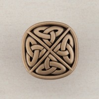 Celtic Square Cabinet Knob - Museum Gold (DQGGP) by Acorn