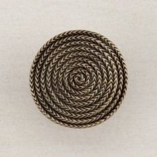 Rope Circle Cabinet Knob - Antique Brass (DQHAP) by Acorn