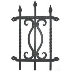 Square Bar Fancy Twist Door Grille (GR001) by Agave Ironworks