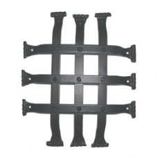 Flat Bar Fish Tail Door Grille (GR003) by Agave Ironworks