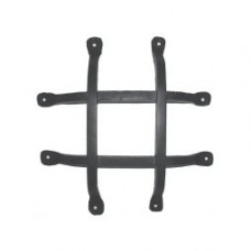Square Bar Flat Tail Door Grille (GR009) by Agave Ironworks