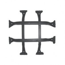 Square Bar Fish Tail Door Grille (GR011) by Agave Ironworks