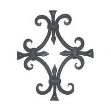 Round Bar Fancy Door Grille (GR015) by Agave Ironworks