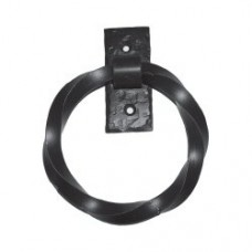Twisted Ring Door Pull (PU012) by Agave Ironworks