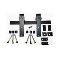 Basic Smooth Square Barn Door Kit (RH001 & SS001) - (Various Finishes - Various Track Lengths) by Agave Ironworks