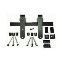 Basic Smooth Radius Barn Door Kit (RH005 & SS005) - (Various Finishes - Various Track Lengths) by Agave Ironworks