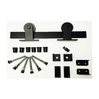 Low Profile Top Mount Barn Door Kit (RH021 & SS021) - (Various Finishes - Various Track Lengths) by Agave Ironworks