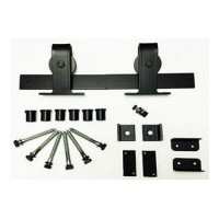 Standard Top Mount Barn Door Kit (RH022 & SS022) - (Various Finishes - Various Track Lengths) by Agave Ironworks