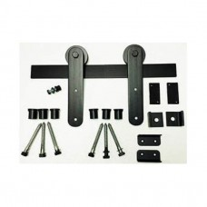 Low Profile Strap Mount Barn Door Kit (RH023 & SS023) - (Various Finishes - Various Track Lengths) by Agave Ironworks