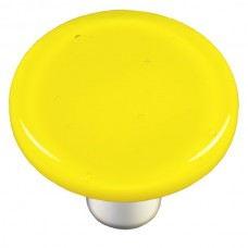 "Solids Canary Yellow Round Cabinet Knob (1-1/2"") by Aquila Art Glass"