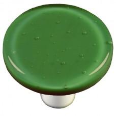 "Solids Dark Forest Green Round Cabinet Knob (1-1/2"") by Aquila Art Glass"