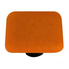 "Solids Burnt Orange Square Cabinet Knob (1-1/2"") by Aquila Art Glass"