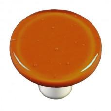"Solids Burnt Orange Round Cabinet Knob (1-1/2"") by Aquila Art Glass"