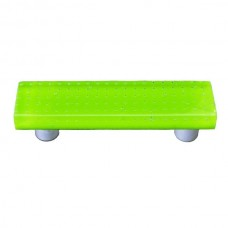 "Bubbles Spring Green Rectangle Drawer Pull (3"" cc) by Aquila Art Glass"