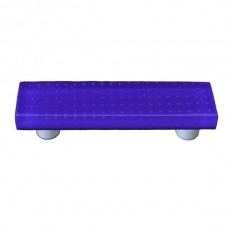 "Bubbles Cobalt Blue Rectangle Drawer Pull (3"" cc) by Aquila Art Glass"