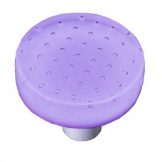 "Bubbles Lavender Round Cabinet Knob (1-1/2"") by Aquila Art Glass"