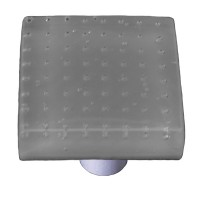 "Bubbles Deco Gray Square Cabinet Knob (1-1/2"") by Aquila Art Glass"