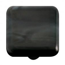 "Swirl Charcoal Swirl Square Cabinet Knob (1-1/2"") by Aquila Art Glass"
