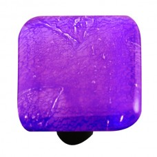 "Metals Fractures Cobalt Blue Square Cabinet Knob (1-1/2"") by Aquila Art Glass"
