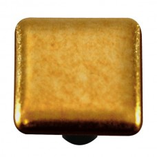 "Metals Gold Square Cabinet Knob (1-1/2"") by Aquila Art Glass"