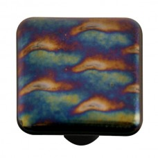 "Metals Patterned Square Cabinet Knob (1-1/2"") by Aquila Art Glass"