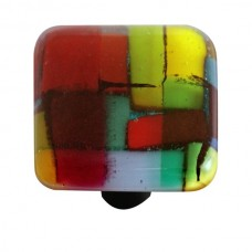 """Mosaic Mosaic Multiple Color Square Cabinet Knob (1-1/2"""") by Aquila Art Glass"""