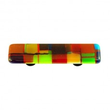 """Mosaic Mosaic Multiple Color Rectangle Drawer Pull (3"""" cc) by Aquila Art Glass"""
