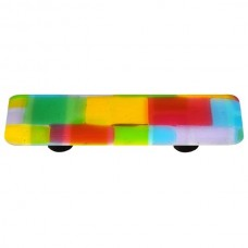 """Mosaic Mosaic Spring Rectangle Drawer Pull (3"""" cc) by Aquila Art Glass"""