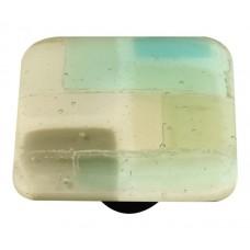 "Mosaic Mosaic Winter Square Cabinet Knob (1-1/2"") by Aquila Art Glass"
