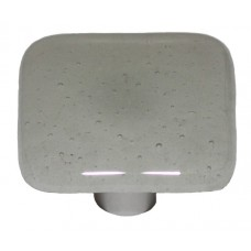 "Glow Gray Tint (Aqua Glow) Square Cabinet Knob (1-1/2"") by Aquila Art Glass"